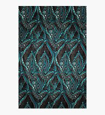 Black and turquise pattern Photographic Print