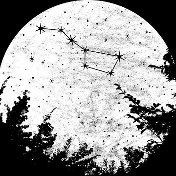 Big Dipper Star Constellation Full Moon Graphic by xsylx