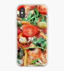 seafood pizza close up food background iPhone Case