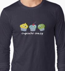 cupcake crazy - dark Long Sleeve T-Shirt