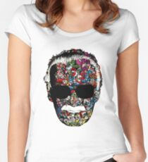 Stan Lee - Man of many faces Women's Fitted Scoop T-Shirt