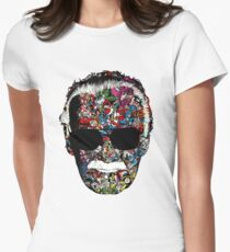 Stan Lee - Man of many faces Women's Fitted T-Shirt