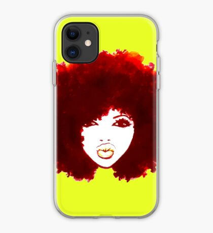 Autumn Afro Natural Hair Curly Hair Pretty Girl iPhone Case
