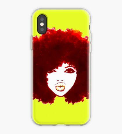 Autumn Afro Natural Hair Curly Hair Hübsches Mädchen iPhone-Hülle & Cover