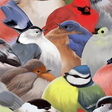 Fat backyard birds by ikerpazstudio