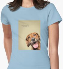 Curious and Cute Rhodesian Ridgeback Women's Fitted T-Shirt