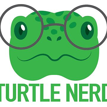Turtle nerd with tortoise in glasses (expert about turtles) by jazzydevil