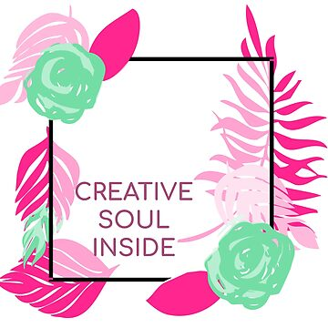 Creative soul inside T shirt for men and women by tengamerx