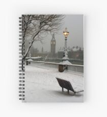 Big Ben in the snow - 2 Spiral Notebook