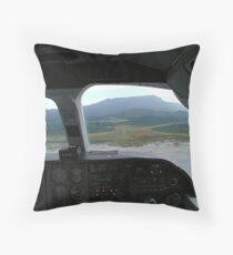 View from the cockpit - Great Barrier Island..........! Throw Pillow