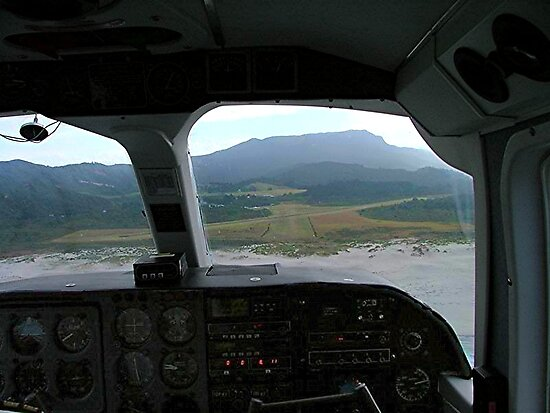 View from the cockpit - Great Barrier Island..........! by Roy  Massicks