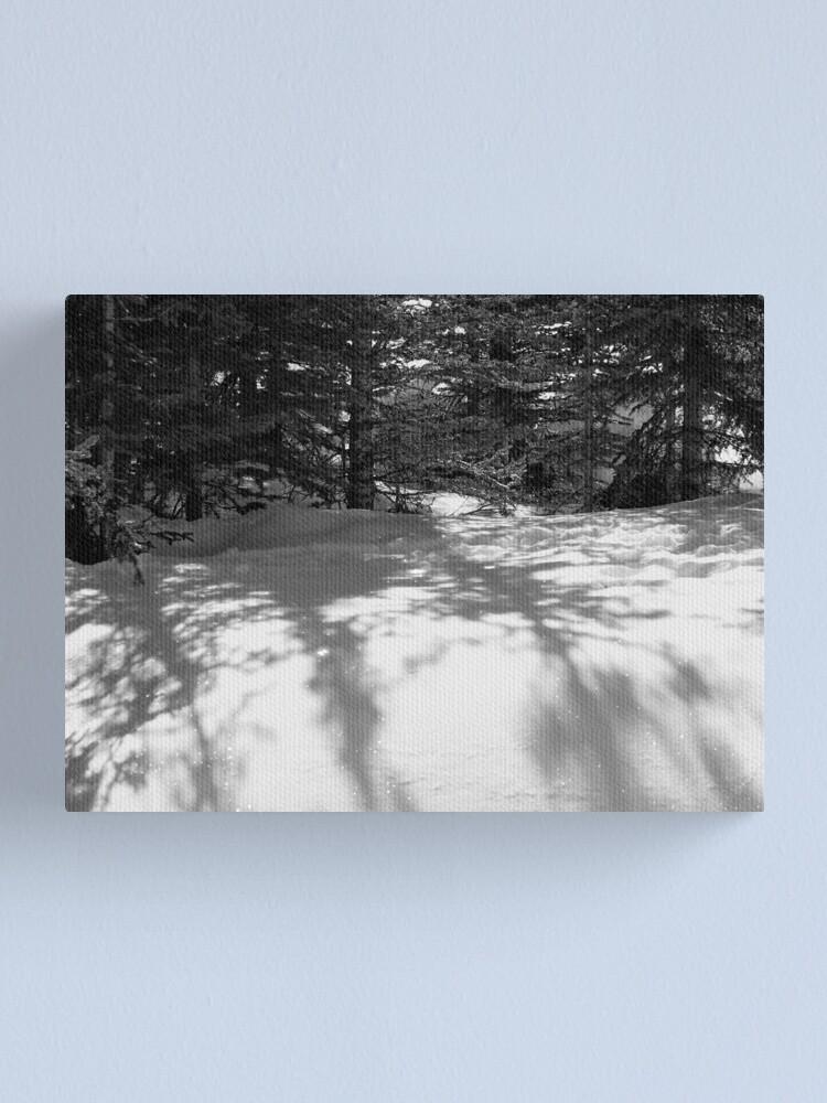 Alternate view of Snowbank 2 Canvas Print