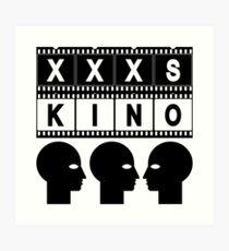 CINEMA HEAD FILMSTRIP Art Print