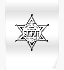 Heathers Sheriff Badge Poster