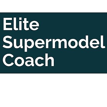 Elite supermodel coach T shirt for men and women by tengamerx