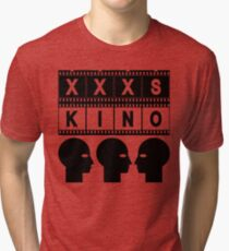 CINEMA HEAD FILMSTRIP Tri-blend T-Shirt