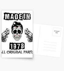 Made In 1978 All Original Parts Postcards