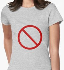 Do Not Enter Sign Women's Fitted T-Shirt