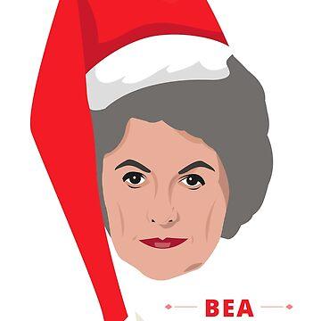 Bea Arthur Christmas by gregs-celeb-art