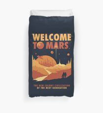 Welcome to Mars Duvet Cover