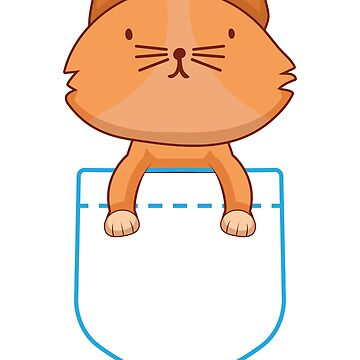 Pocket cat by MrD-Shirts