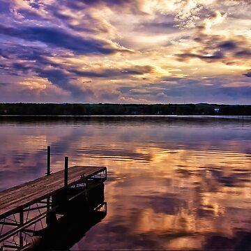 Sunset on Edinboro Lake by kdxweaver
