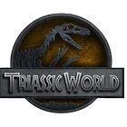 TRIASSIC WORLD logo. Jurassic Park inspired by mariolanzas