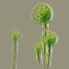 Modern Abstract Spring Flower Trees by Van Nhan Ngo