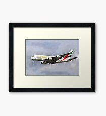 Emirates Airline A380 Art Framed Print