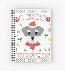 Schnauzer Ugly Christmas Sweater Merry Xmas Funny Dog Lover Spiral Notebook