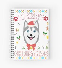 Husky Ugly Christmas Sweater Merry Xmas Funny Dog Lover Spiral Notebook