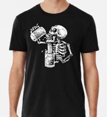 Betrunkener Schädel Premium T-Shirt