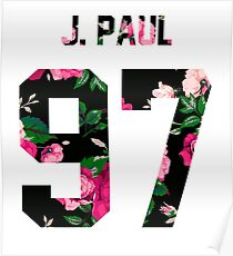 Jake Paul - Colorful Flowers Poster