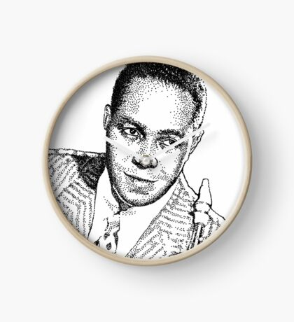Ink drawing of Jazz icon Charlie Parker Clock