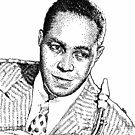 Ink drawing of Jazz icon Charlie Parker by tqueen