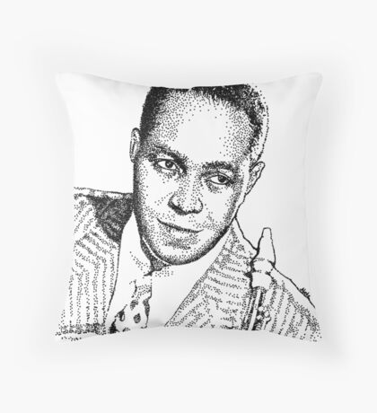 Ink drawing of Jazz icon Charlie Parker Throw Pillow