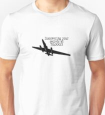Discovering your secrets at 70,000ft by #fftw Unisex T-Shirt