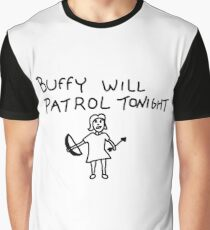 BtVS, Buffy Will Patrol Tonight, Buffy the Vampire Slayer, 90s, Hush, Joss Whedon, Giles, The Gentlemen, Once More With Feeling Graphic T-Shirt
