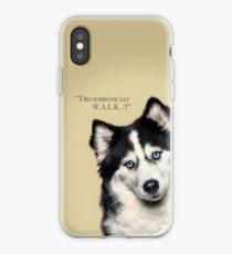 Curious and Cute Husky iPhone Case