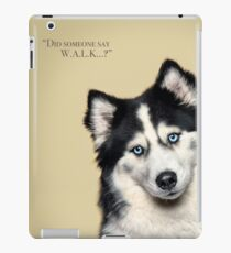 Curious and Cute Husky iPad Case/Skin