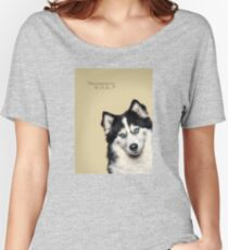 Curious and Cute Husky Women's Relaxed Fit T-Shirt