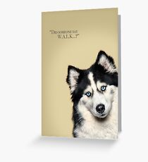 Curious and Cute Husky Greeting Card