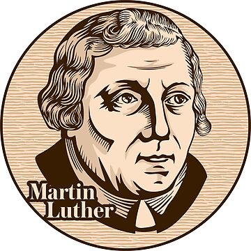 Martin Luther (1483 – 1546) was a German professor of theology, composer, priest, monk, and a seminal figure in the Protestant Reformation. Christian figure. by biblebox