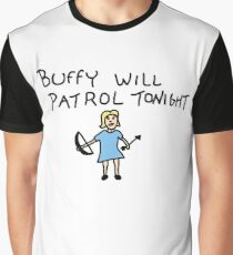 Buffy Will Patrol Tonight, BtVS, Buffy the Vampire Slayer, 90s, Hush, Joss Whedon, Giles, The Gentlemen, Once More With Feeling Graphic T-Shirt