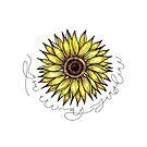 Moderne Sonnenblume-Illustration von Love Lily