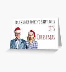 The Good Place Christmas Card, Eleanor Shellstrop, Chidi, Janet, Jason Mendoza, Michael, Vicky,  Bambadjan, Tahani, Meme greeting cards Greeting Card