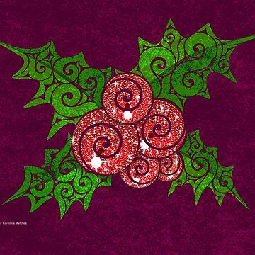 Swirly Mistletoe by CarolinaMatthes