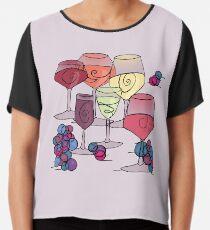 Wine and Grapes v2 Chiffon Top