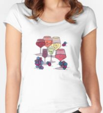 Wine and Grapes Fitted Scoop T-Shirt