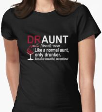 Womens Funny Drunk Aunt Definition DRAUNT T-shirt For Auntie Women's Fitted T-Shirt